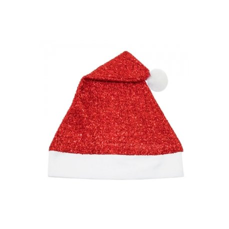 Gorro Navidad Plateado Rojo